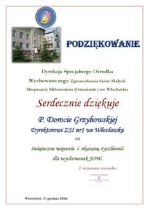 P. DOROTA GRZYBOWSKA